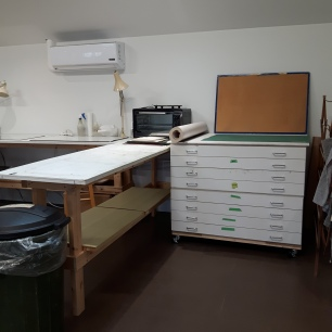 worktable and members paper drawers #2